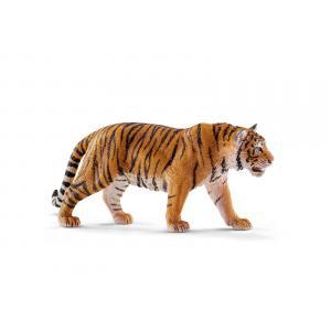 Schleich - bu057 - Figurines animaux sauvages (tigre blanc mâle, bébé tigre blanc, tigre du bengale mâle, bébé tigre du bengale) (413976)
