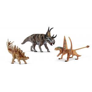 Schleich - bu061 - Figurines dinosaures (kentrosaure, diablocératops, dimorphodon) (413984)
