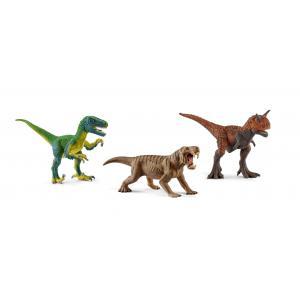 Schleich - bu062 - Figurines dinosaures (vélociraptor, dinogorgon, carnotaure) (413986)
