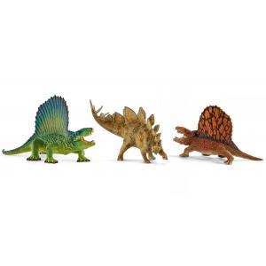 Schleich - bu063 - Figurines dinosaures (dimétrodon, stégosaure, silophosaure) (413988)
