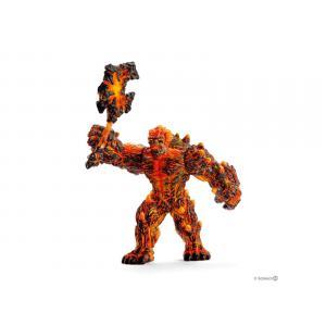 Schleich - bu065 - Figurines fantastiques (taureau de feu, cerbère, golem de lave avec arme) (413992)