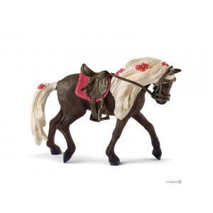 Schleich - bu073 - Set de figurine cheval avec cavalière et couverture (414008)