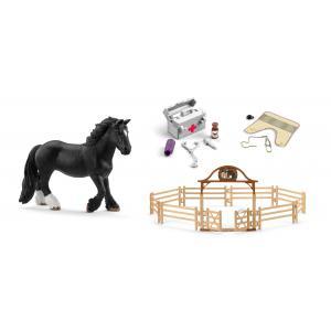 Schleich - bu075 - Figurine cheval avec accessoires d'équitation (414012)