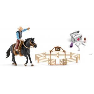 Schleich - bu077 - Figurine cheval avec kits de nourriture et de soins (414016)