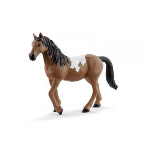 Schleich - bu078 - Figurine cheval jument pinto avec kits de nourriture et de soins (414018)