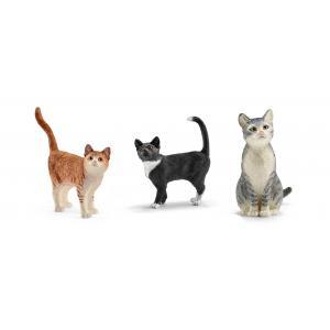 Schleich - bu080 - Set de 3 figurine chat (414022)