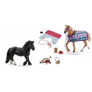 Schleich - bu084 - Set figurine chevaux et accessoires selle avec couverture (414030)
