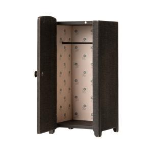 Maileg - 11-9000-00 - Vintage closet w. hangers, Mini - Anthracite - Taille 22 cm - à partir de 36 mois (414376)