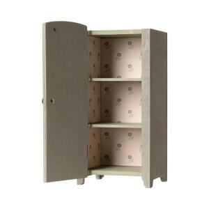 Maileg - 11-9001-00 - Vintage closet w. shelves, Mini - Mint/Grey - Taille 22 cm - à partir de 36 mois (414378)
