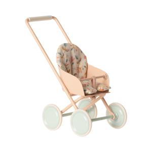 Maileg - 11-9110-00 - Stroller, Micro - Powder - Taille 12 cm - à partir de 36 mois (414396)