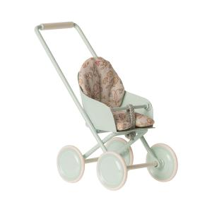 Maileg - 11-9110-01 - Stroller, Micro - Sky blue - Taille : 12 cm (414398)