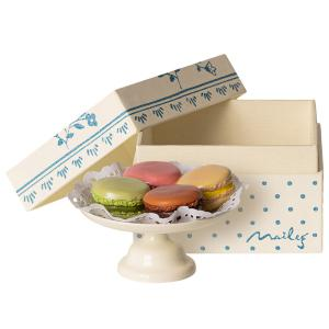 Maileg - 11-9116-00 - Macarons et chocolat chaud - Taille : 5 cm (414410)