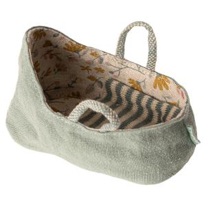 Maileg - 11-9403-01 - Carry cot, My - Dusty green - Taille : 6 cm (414420)
