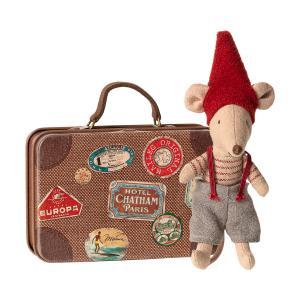 Maileg - 14-9700-01 - Souris de Noël dans sa valise, Petit Frère -  14 cm (414576)