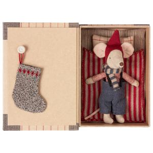 Maileg - 14-9721-01 - Christmas mouse in book - Big brother  - Taille : 17 cm (414580)