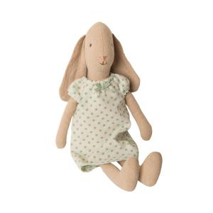 Maileg - 16-9203-00 - Bunny size 2, Nightgown - Mint - Taille : 28 cm (414670)