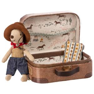 Maileg - 16-9723-01 - Cowboy in suitcase, Little brother mouse - Taille : 8 cm (414716)