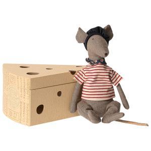 Maileg - 16-9970-00 - Rat dans sa boîte à fromage -  25 cm (414734)
