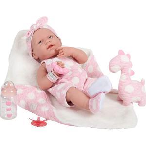 Berenguer - 18063 - All-Vinyl La Newborn Doll in Pink Onesie/Dinosaur Theme. REAL GIRL! (415234)