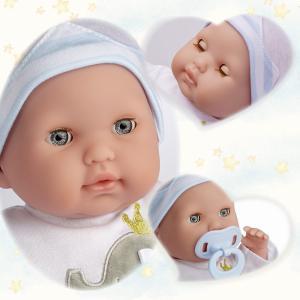 Berenguer - 30044 - Ensemble-cadeau de poupée bleue de corps doux de Berenguer Boutique, yeux ouverts / fermés Corps mou. Bleu. Avec di (415300)