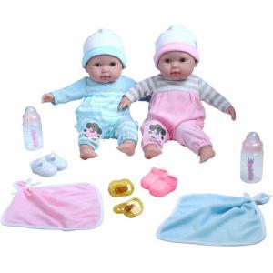 Berenguer - 30050 - Ensemble corps doux Baby Berenguer Boutique Baby Doll TWINS, yeux ouverts / fermés Corps doux. Boutons de manchette (415302)