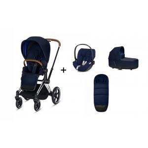 Cybex - BU233 - Poussette Priam et siège-auto Cloud Z Midnight blue (415340)