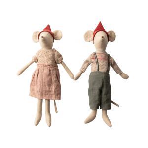 Maileg - BU021 - Set de poupées souris de Noël, fille et garçon - Taille 37 cm (415548)