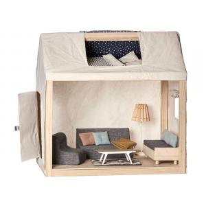 Maileg - BU025 - Maison pour la famille, incl. meubles avec couple de souris de mariage en boîte (415556)