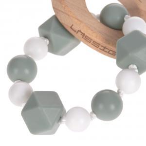 Lassig - 1313006108 - Bracelet de dentition Bois/Silicone Little Chums Chat (415624)
