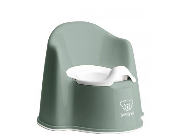 Pot fauteuil, vert profond/blanc