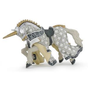 Papo - 39916 - Figurine Cheval du Maître des armes cimier licorne (41648)