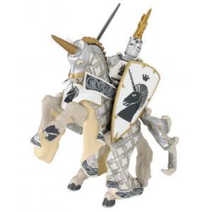Papo - 39916 - Cheval du Maître des armes cimier licorne  - Dim. 17 cm x 6 cm x 9 cm (41648)
