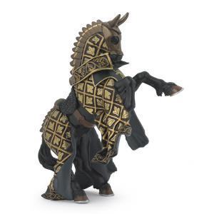 Papo - 39918 - Cheval du Maître des armes cimier taureau - Dim. 15 cm x 6 cm x 9 cm (41650)