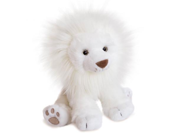 Peluche lion des neiges - taille 28 cm