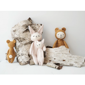 Fabelab - 2805704105 - Soft Rattle- Bear 17 cm (416282)