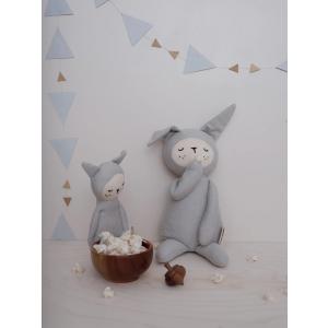 Fabelab - 1905703101 - Rattle Soft - Bunny - Light Grey 17 cm (416444)
