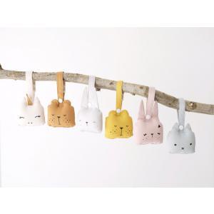 Fabelab - 2801403103 - Animal Rattle- Bunny- Mauve 10x10cm  (416478)