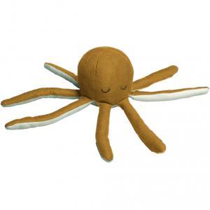 Fabelab - 1901440105 - Octopus Rattle - Ochre / Beach Grass 10x22cm (416538)