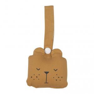 Fabelab - 2801404105 - Animal Rattle- Bear- ochre 10x10cm (416624)