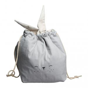 Fabelab - 1901903301 - Storage Bag - Small - Bunny - Icy Grey  31 x 40 cm (416640)