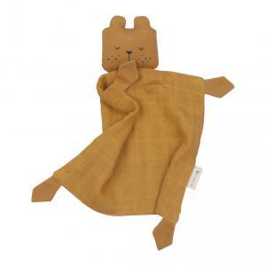 Fabelab - 2801804105 - Doudou ours en coton - ochre 34x26 cm (416708)