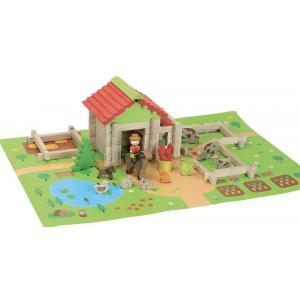 Jeujura - 8232 - Ma première petite ferme en bois - 80 pièces (416740)