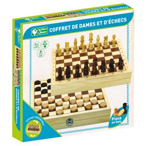 L'Arbre à jouer - 66440 - Jeux de dames et d'échecs - coffret en bois (416764)