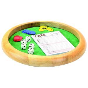 L'Arbre à jouer - 66470 - Piste de dés en bois - yam - 421 - diamètre 35 cm (416770)