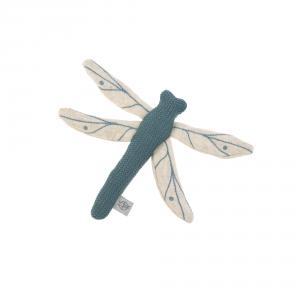 Lassig - 1313009472 - Hochet tricoté Garden Explorer Libellule bleu, (417064)