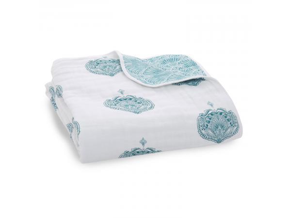 Couverture de rêve 100% coton paisley - teal