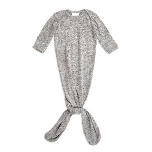 Aden and Anais - AKGN10002 - Grenouillère nouée maille ultra-cosy heatherGrey (taille: 0 - 3 mois) (417462)
