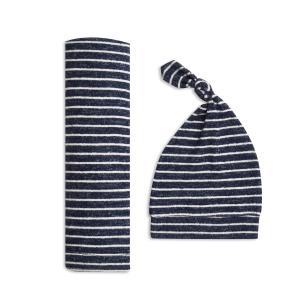 Aden and Anais - ASGN20003 - Coffret cadeau maxi-lange maile cosy navy stripe (taille unique) (417476)