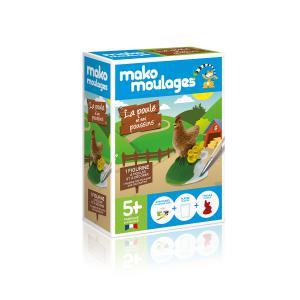 Mako moulages - 39044 - Moulage  La poule et ses poussins   Boîte unitaire - (417568)