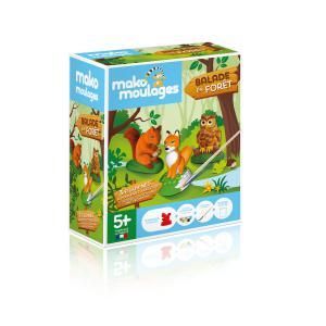 Mako moulages - 39049 - mako moulages Balade en fôret - Etui 3 moules (ecureuil-renard-hibou) (417582)
